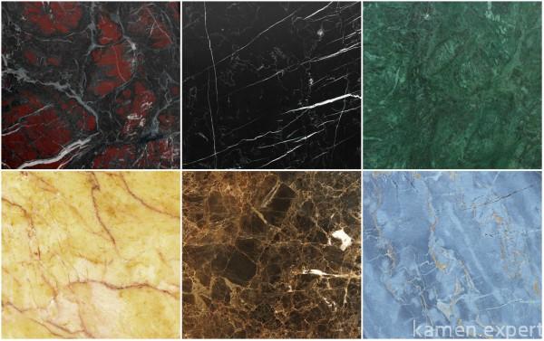 Камень разных цветов