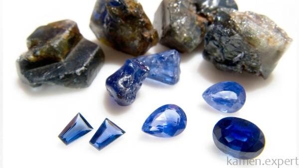 Обработанные и необработанные камни