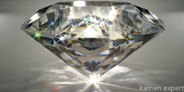 Прозрачный ограненный камень