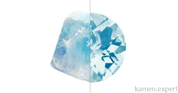 Светло-голубой топаз