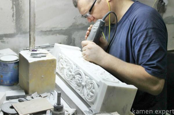 Точечная обработка мрамора
