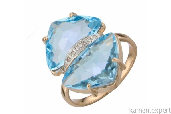 Кольцо с двумя камнями