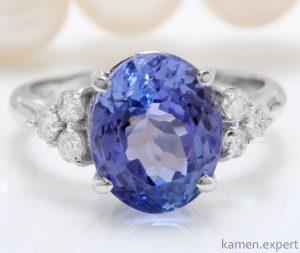танзанит кольцо